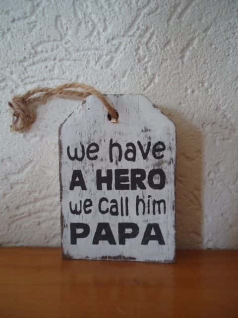 Hangertje: We have a hero we call him papa