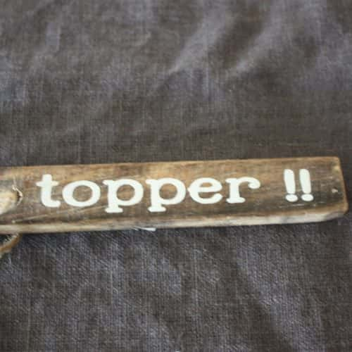 Hanger latje mini: Topper
