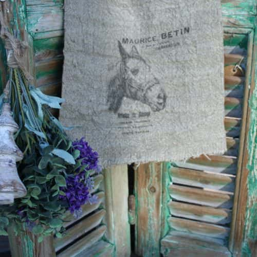 Shabby doek Paard small