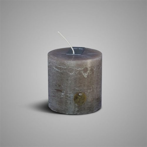 Rustic Candle Brown ⌀ 7 x H 7