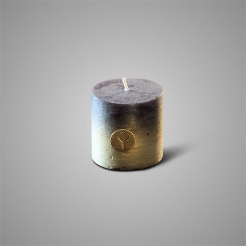 Rustic Candle Fading Black ⌀ 10 x H 10