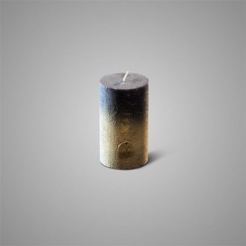 Rustic Candle Fading Black ⌀ 7 x H 12