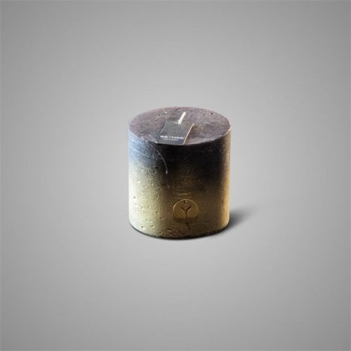 Rustic Candle Fading Black ⌀ 7 x H 7