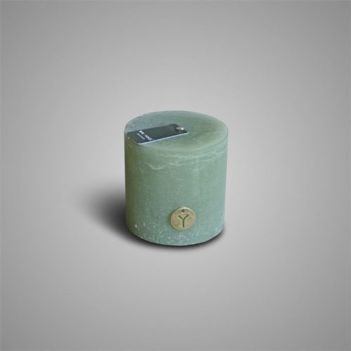 Rustic Candle Sage Green ⌀ 10 x H 10